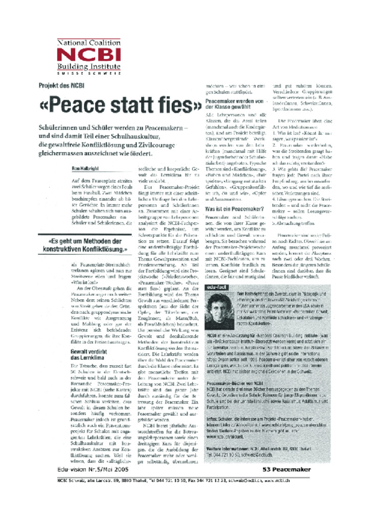 thumbnail of Peace statt fies